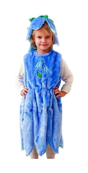 Карнавальный костюм Бока Цветок, цв. синий р.104
