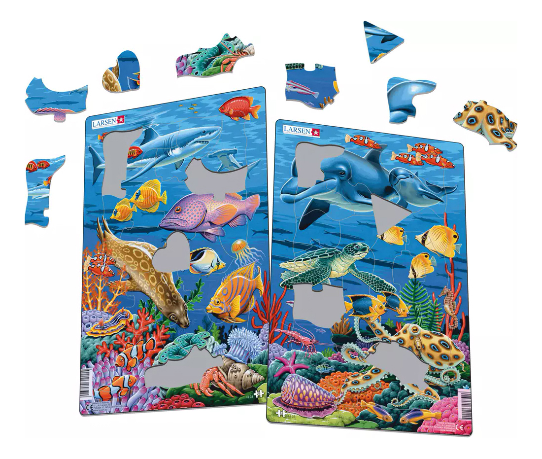 Купить Пазл Larsen Коралловые рифы 25 деталей в ассортименте, Пазлы