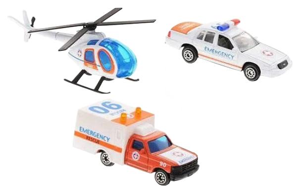 Купить Служба спасения 3 шт m7208-5, Машина спецслужбы Shantou Gepai Служба спасения 3 шт. m7208-5, Наборы игрушечного транспорта