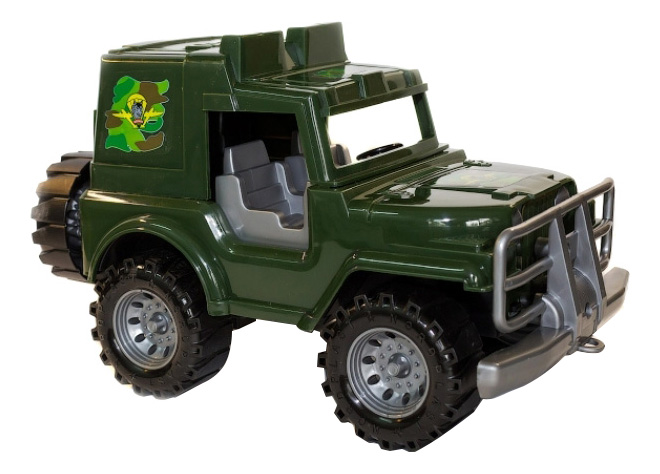 Купить Джип коммандос, Джип Коммандос зеленый Нордпласт P21423, НОРДПЛАСТ, Военный транспорт