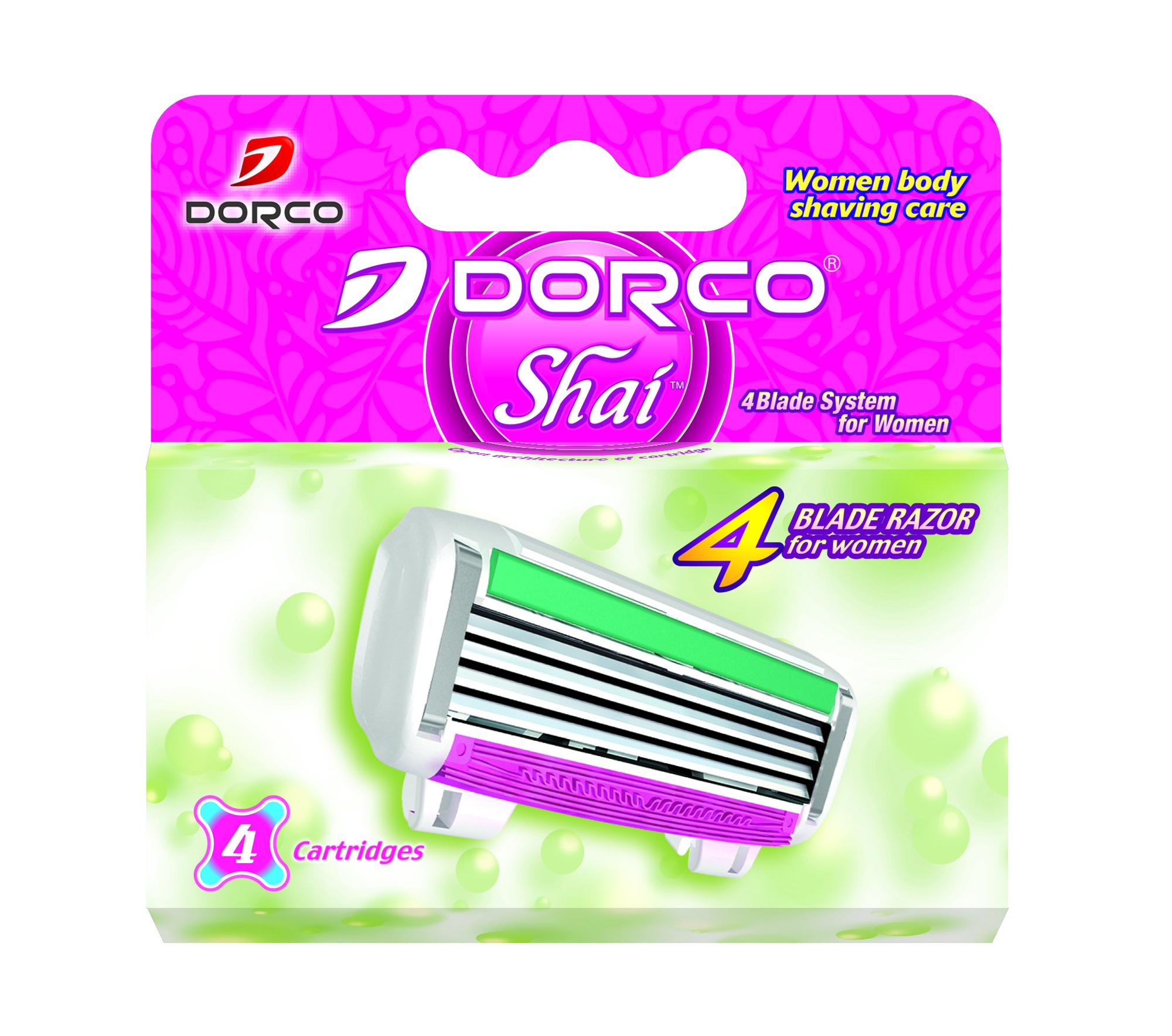 Сменное лезвие для станка Dorco Shai 4 4шт.