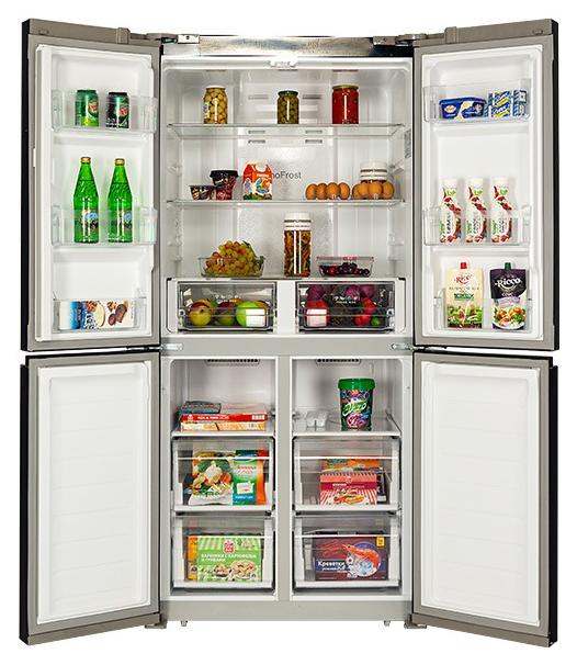 Холодильник Hiberg RFQ 490DX NFGB Black