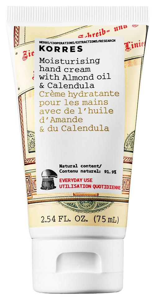 Купить Крем для рук Korres Moisturising Almond Oil & Calendula Hand Cream 75 мл, Moisturising Hand Cream Almond Oil & Calendula