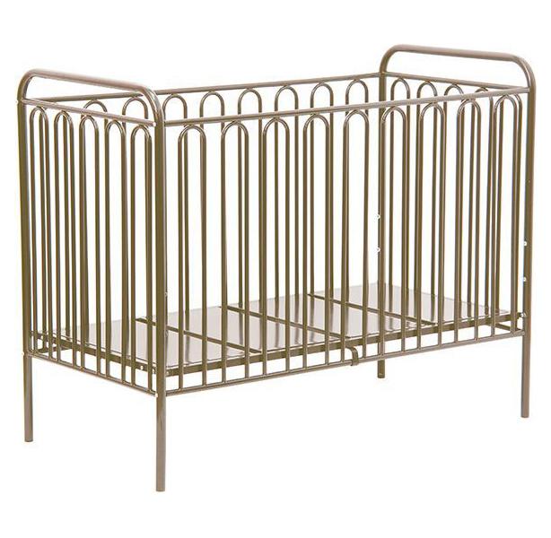 Купить 150 Бронзовый, Кровать детская Polini Kids Vintage 150 металлическая, Бронзовый, Классические кроватки