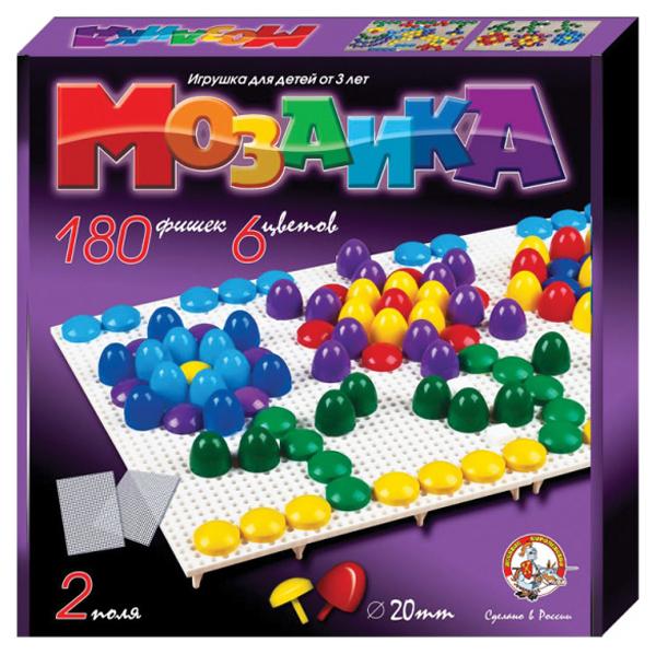 Мозаики Десятое Королевство Пластмассовая детская мозаика 180 элементов фото
