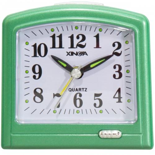 Часы будильник настольные зеленые 4501053