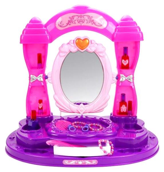 Купить Трюмо настольное Чудо, 19 аксесс., свет, звук Y3498335 Наша Игрушка, Наша игрушка, Игрушечные туалетные столики