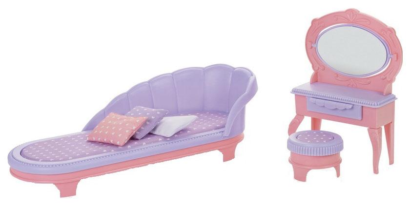 Купить ОГОНЕК Набор мебели для кукол Будуар. Маленькая принцесса (розовый) C-1460, Огонек, Аксессуары для кукол