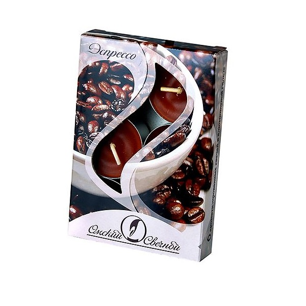 Ароматические свечи Омский Свечной эспрессо 3,8х1,6 см 001828-свеча