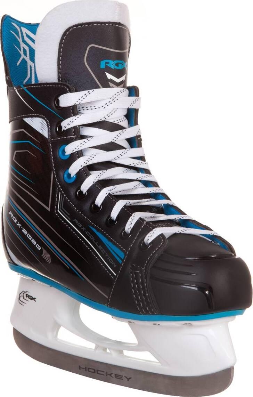 Коньки хоккейные RGX RGX-2030 черные/синие, 40 фото