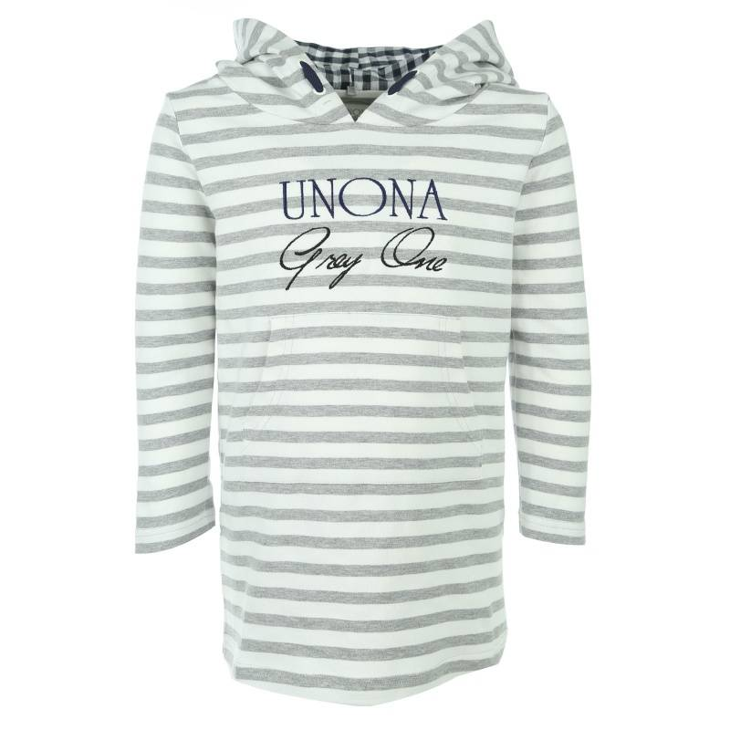 Купить 2032, Платье UNONA GO, цв. серый, 146 р-р, Платья для девочек