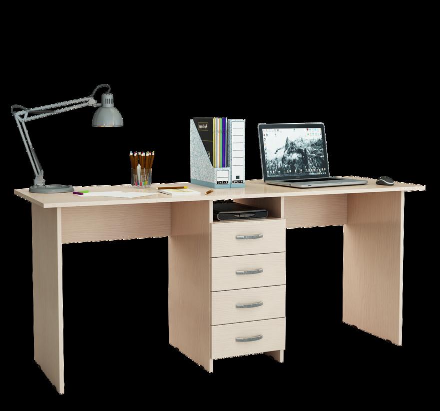 Компьютерный стол МФ Мастер Тандем-2 174,8x60x75, дуб молочный