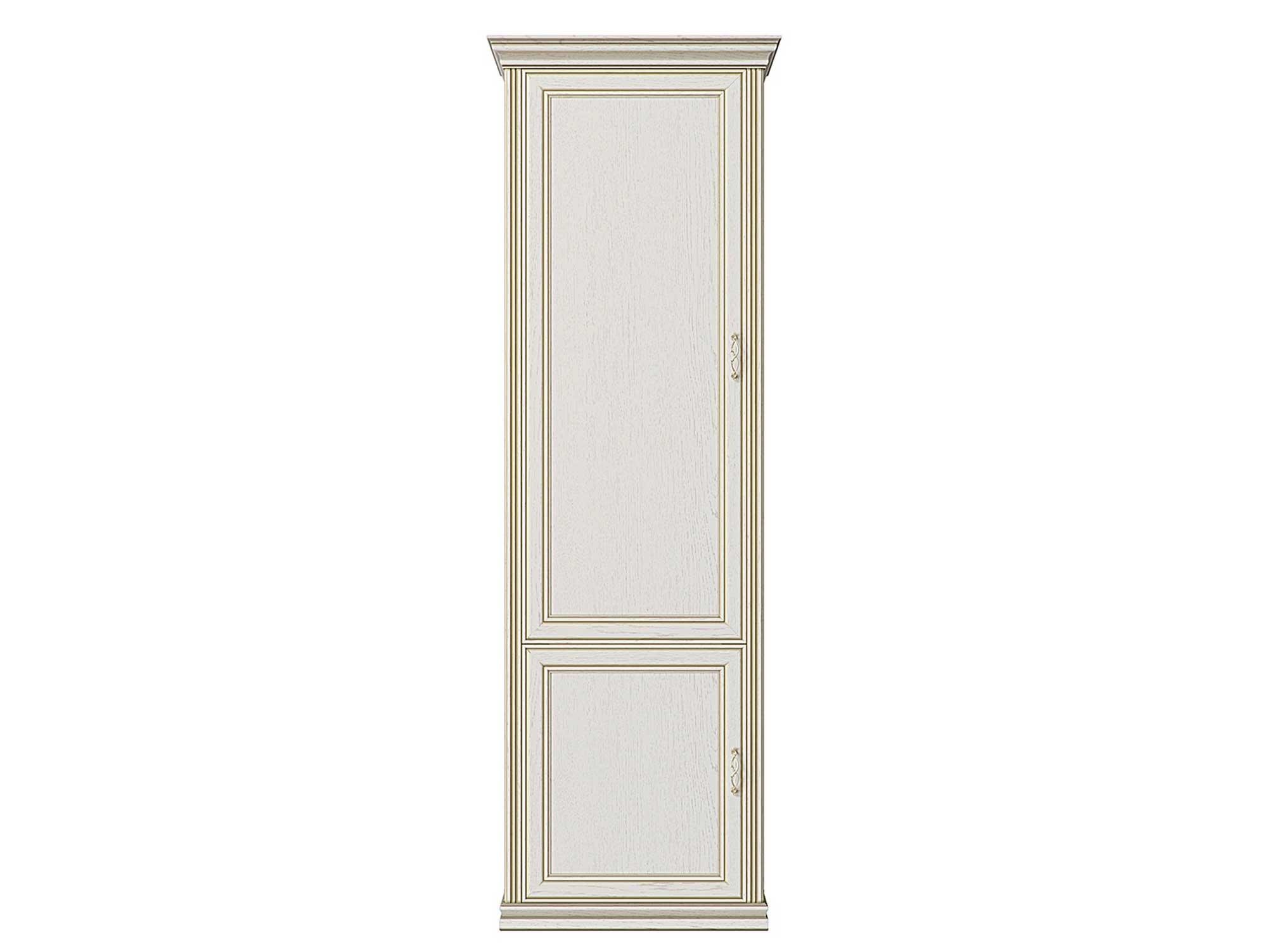 Шкаф распашной КУРАЖ Шкаф-пенал 2-х дверный Венето Дуб молочный, Без полок