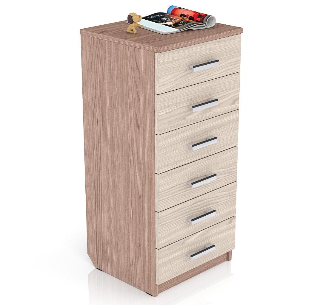 Комод Мебельный Двор К-9 49х45х106 см, ясень шимо темный