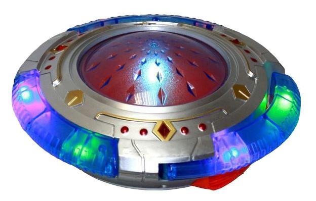 Развивающая игрушка Shenzhen Toys Игр. летающая тарелка на бат. BOX 19х19х9 см. арт. 0980A