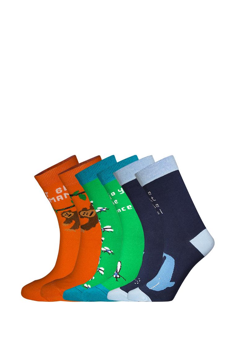 Подарочный набор носков женский big bang socks box3a1212 синий/зеленый/оранжевый 35-38