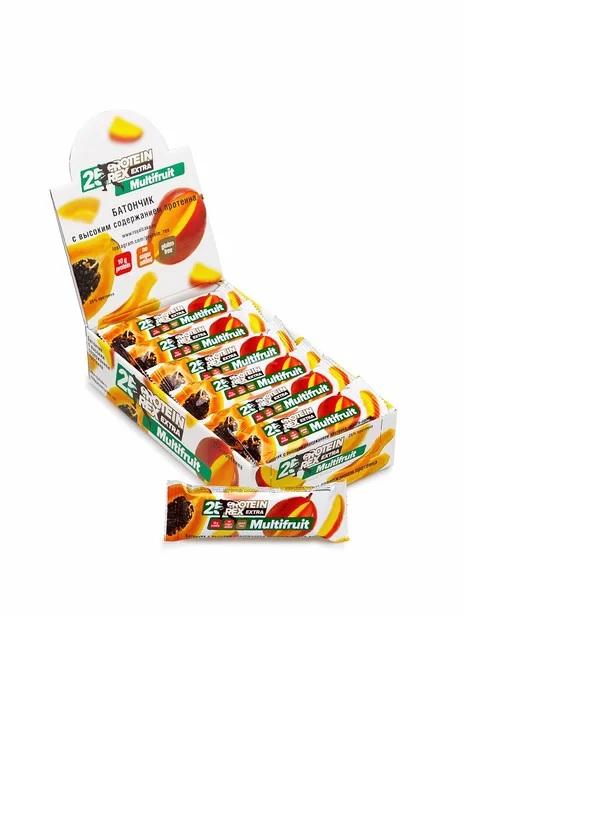 Батончик протеиновый Protein Rex манго/папайя 18 штук