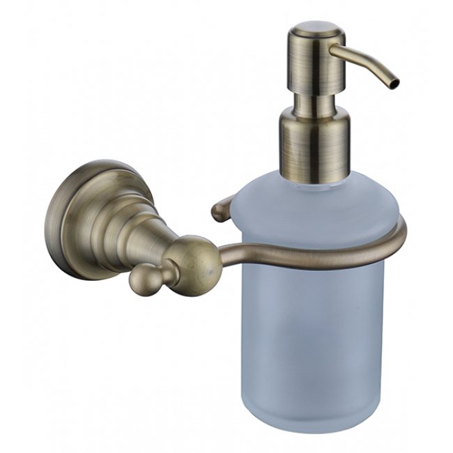 Дозатор для жидкого мыла настенный (стекло) бронза