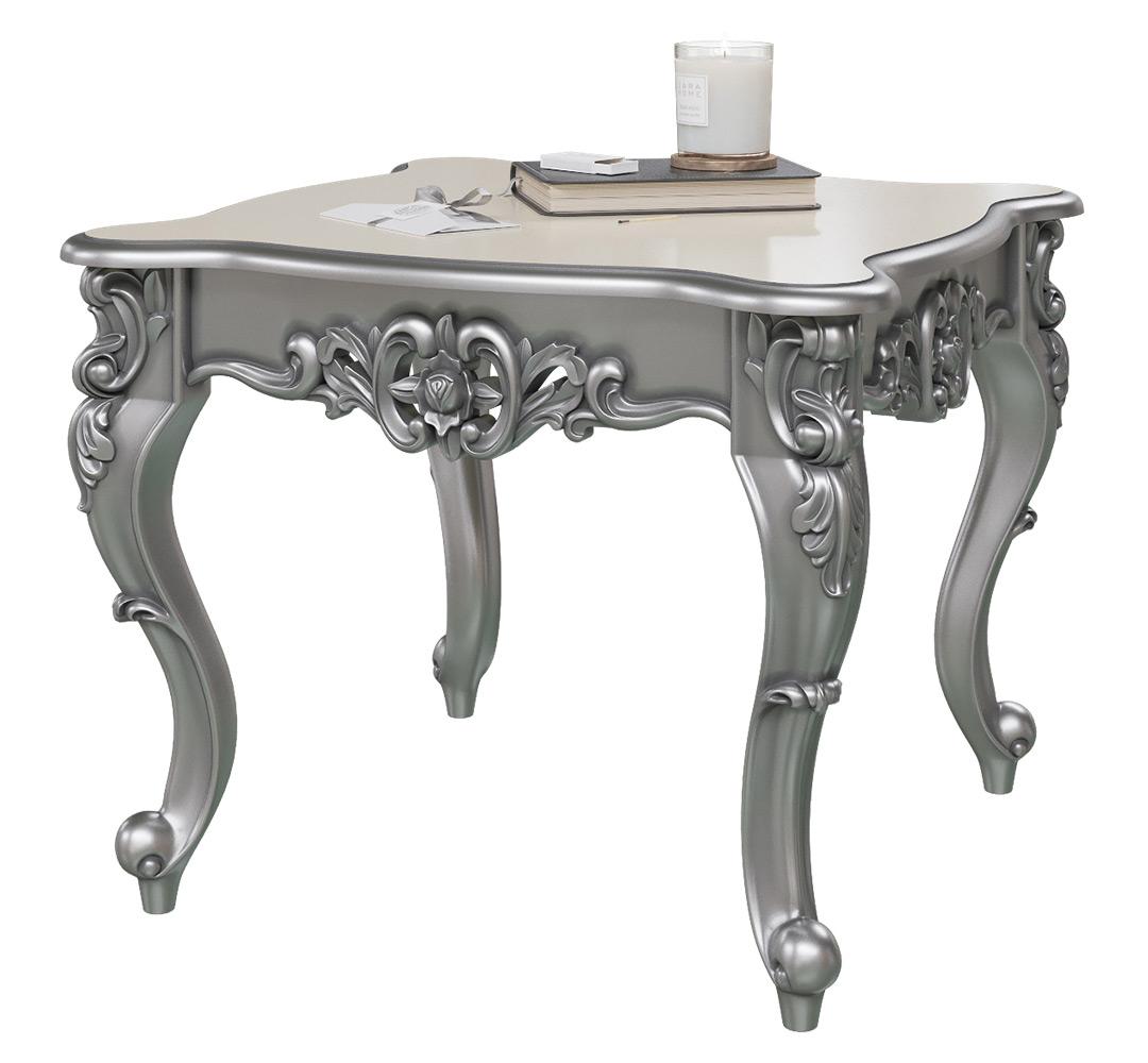 Журнальный столик Мэри-Мебель СЖ-01 1073279 65х65х51 см, серебро фото