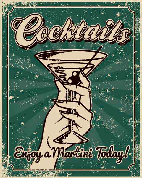 Картина на холсте 30x40 Cocktails Ekoramka HE-101-411