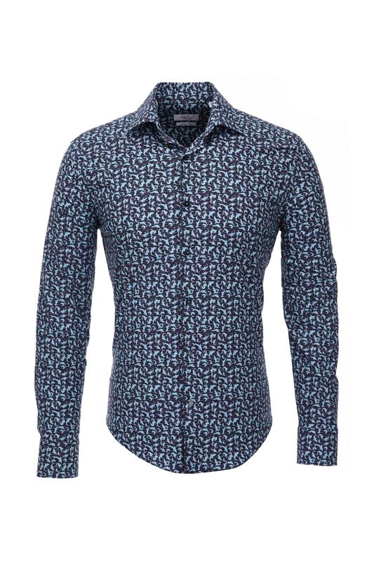 Рубашка мужская BAWER RZ1412065-04 синяя M
