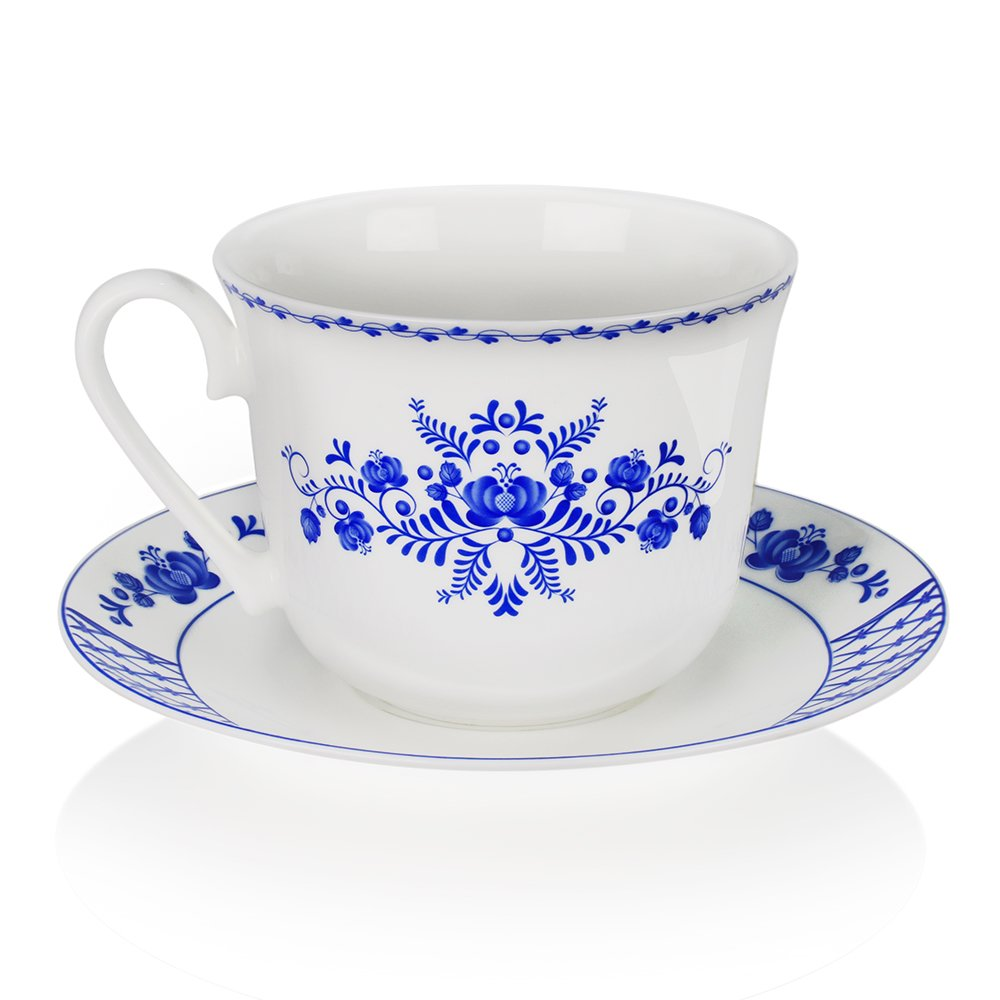 Чайная пара АККУ 250 мл Любава костяной фарфор