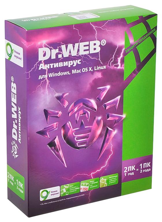 Антивирус DR.Web Base 2 ПК 1 год Box BHW-A-12M-2-A3 фото