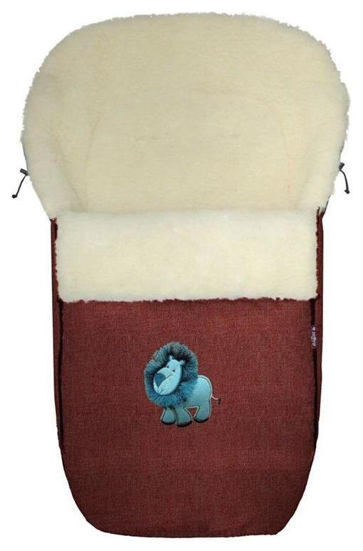 Купить Спальный мешок в коляску Womar №S77 Exlusive Lion Melange fabric Гранатовый, Конверты в коляску