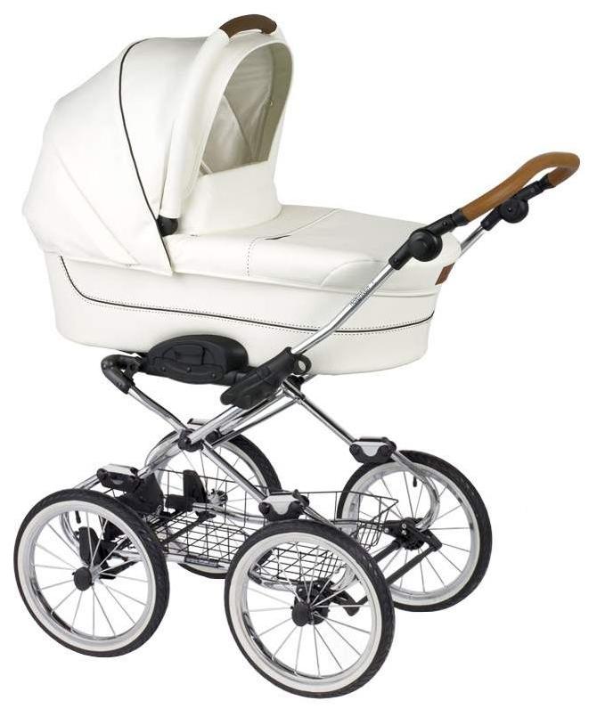 Купить Caravel 14, Коляска 2 в 1 Navington Carаvel колеса 14 Royal Snow, Детские коляски 2 в 1