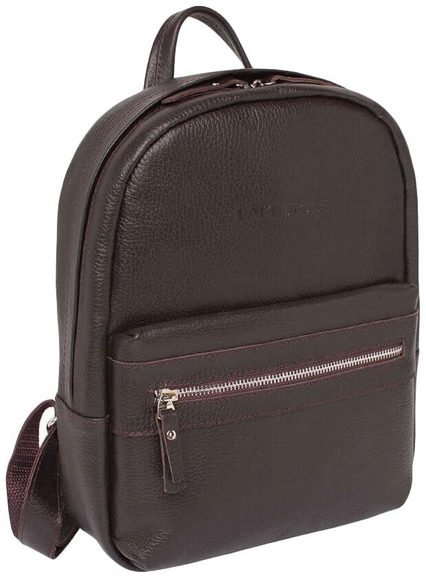 Рюкзак кожаный Lakestone Belfry коричневый 15 л