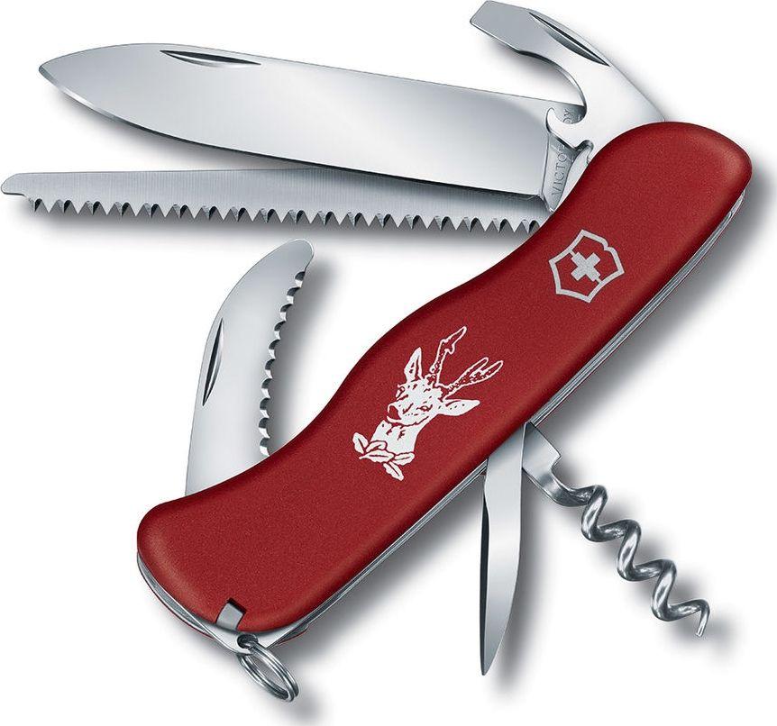 Мультитул Victorinox Hunter 0.8573 111 мм красный, 12 функций