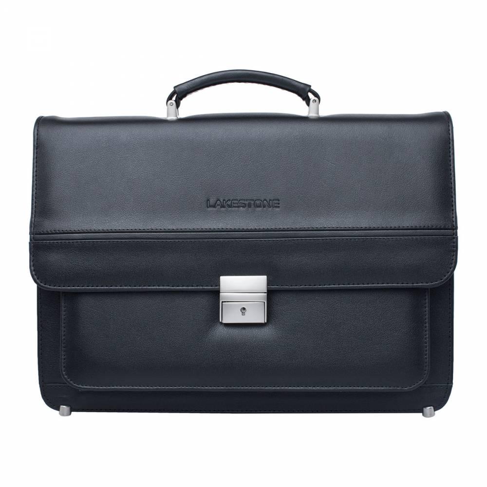 Портфель мужской кожаный Lakestone Reedley 943014/BL черный фото