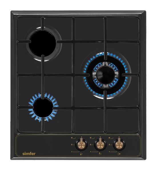 Встраиваемая варочная панель газовая Simfer H45V35L517 Black