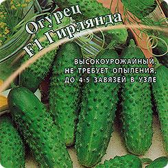 Семена Огурец Гирлянда F1, 10 шт, Гавриш