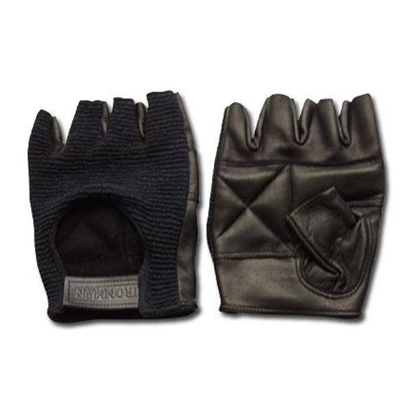 Перчатки для тяжелой атлетики и фитнеса Ironman стрейч-верх 27, черные, XL фото