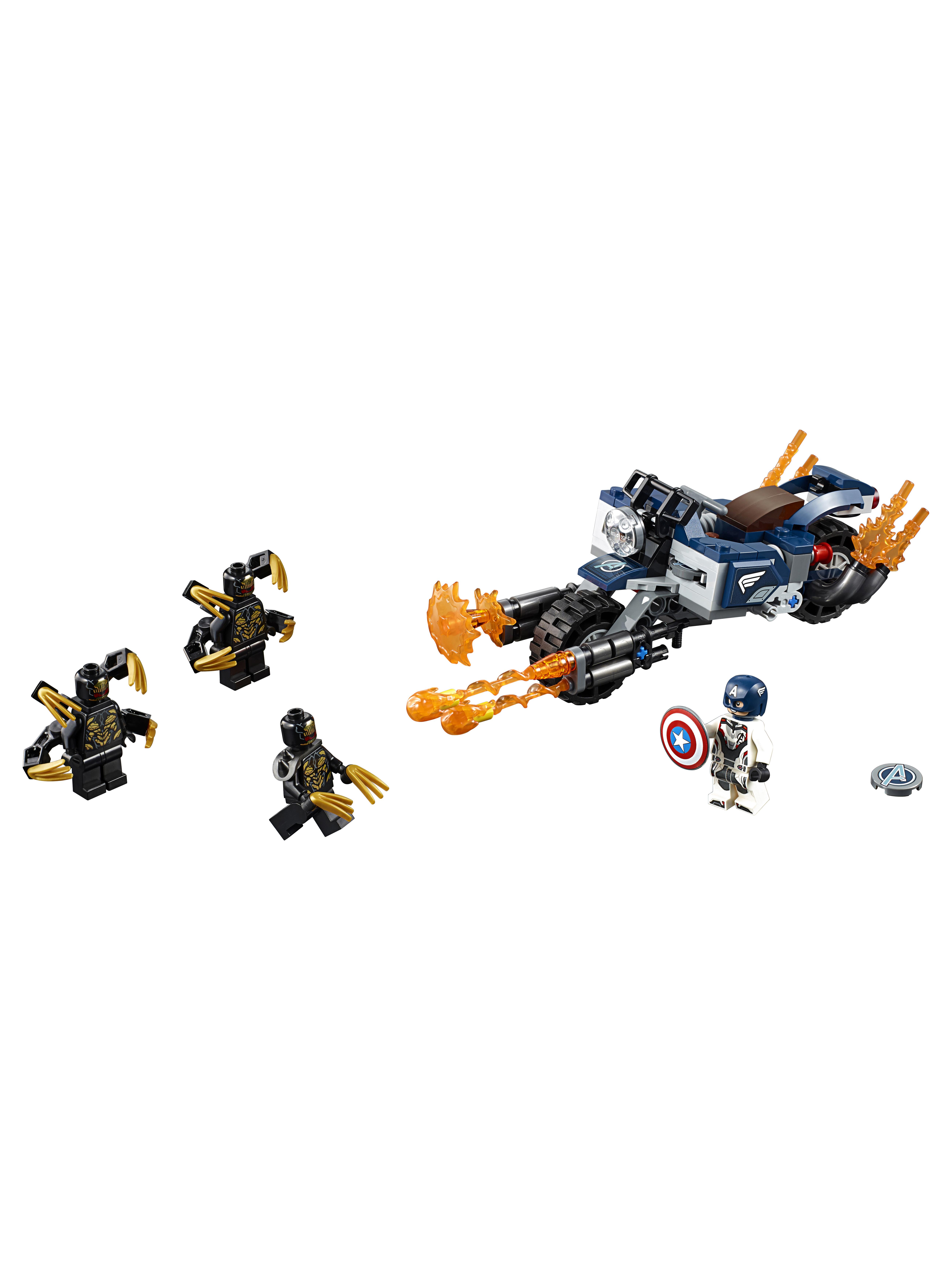 Конструктор LEGO Marvel Super Heroes 76123 Капитан Америка: Атака Аутрайдеров