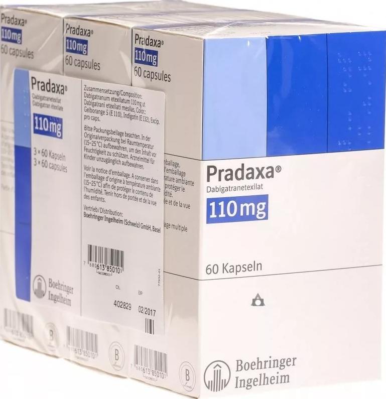 Купить Прадакса капсулы 110 мг 180 шт., Boehringer Ingelheim