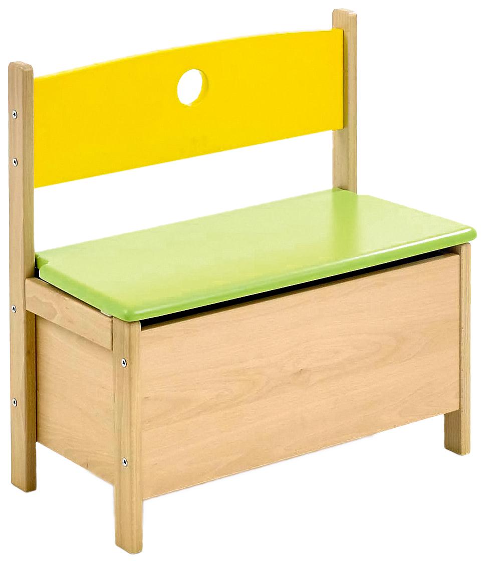 Купить Скамья игровая с ящиком для игрушек Pepino натуральный/цветной, Geuther, Ящики для хранения игрушек