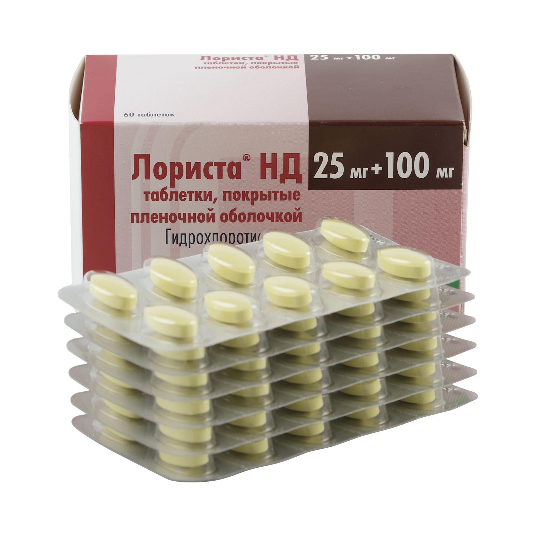 Лориста НД таблетки 100 мг+25 мг 60 шт.