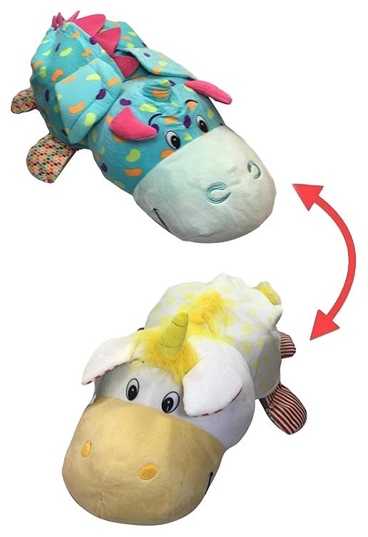 Купить Игрушка-вывернушка 1 TOY Ням-Ням Единорог-Дракончик с ароматом Попкорн-Мармелада 40 см, Мягкие игрушки животные