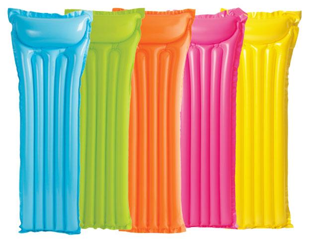 Матрас надувной Intex 59703NP Голубой, желтый, зеленый. розовый, оранжевый