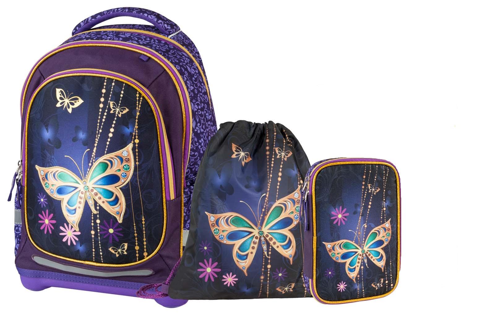 Купить Рюкзак детский Target супер легкий Золотая бабочка 3 в 1,