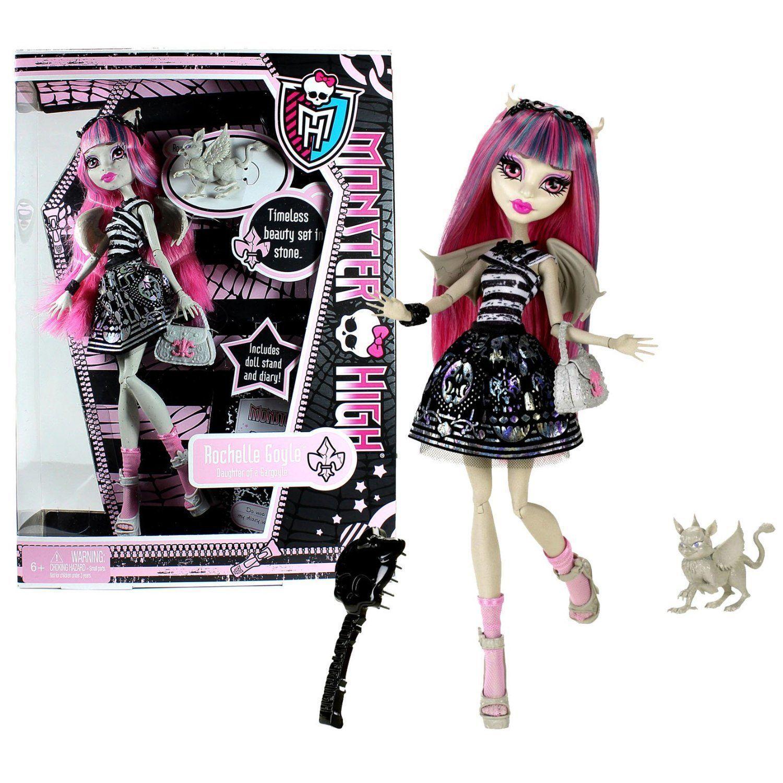 Купить Кукла Monster High Рошель Гойл - Базовая с питомцем X3650, Классические куклы