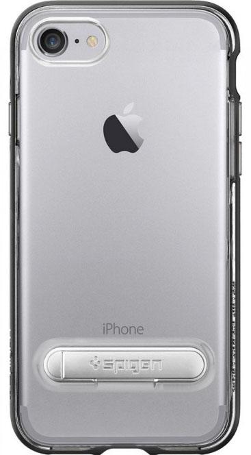 Чехол с подставкой Spigen Crystal Hybrid для iPhone 7/8 (Black)