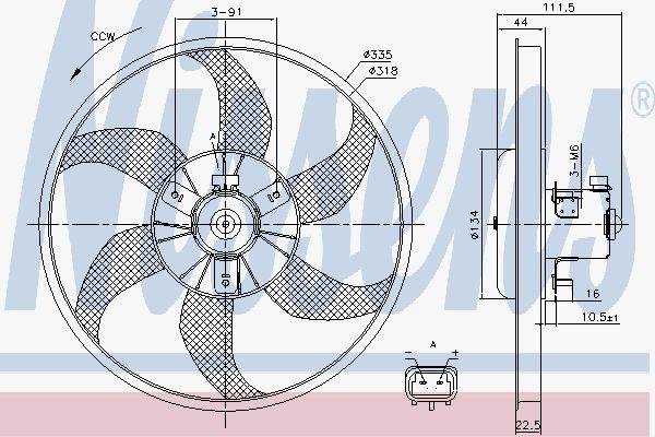 Вентилятор охлаждения двигателя NISSENS 85782