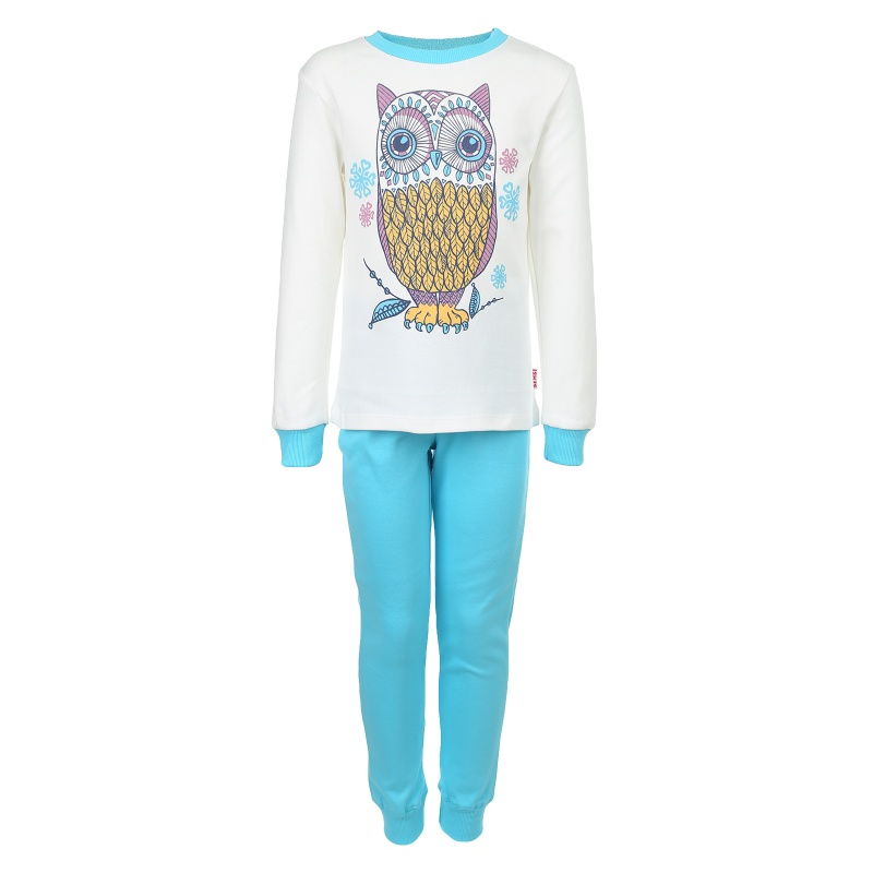 Пижама детская Bembi, цв. белый; голубой р.122 R00, ПЖ39