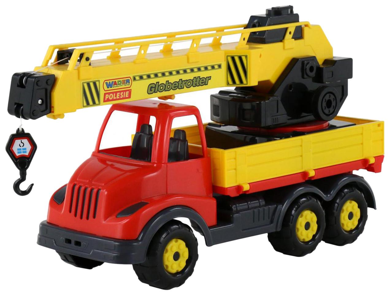 Купить Игрушки, Автомобиль-кран с поворотной платформой Wader Муромец 56535_PLS (в сеточке), Игрушечные машинки