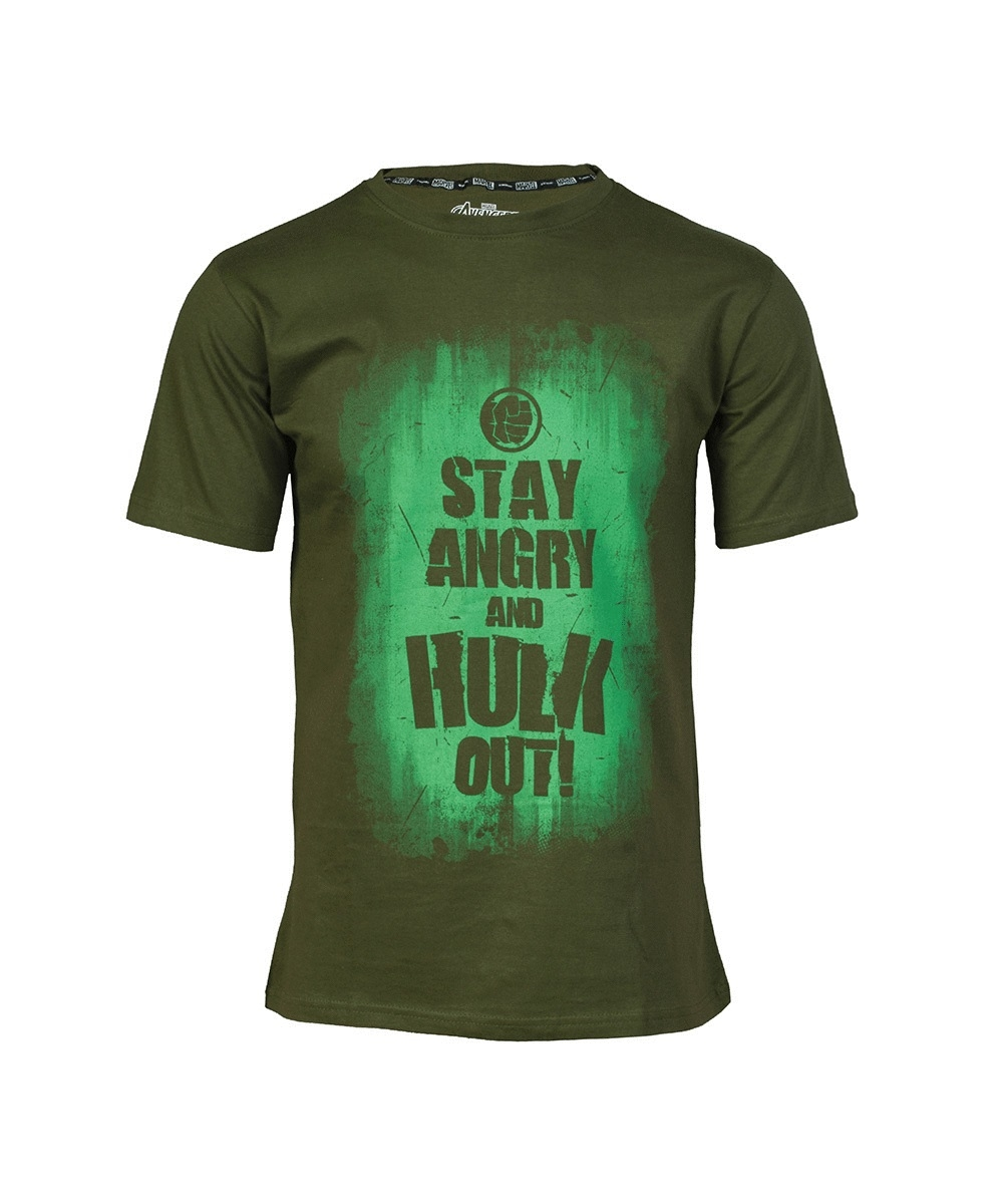 Футболка Good Loot Marvel AVAS Hulk Slogan, зеленый, M INT фото
