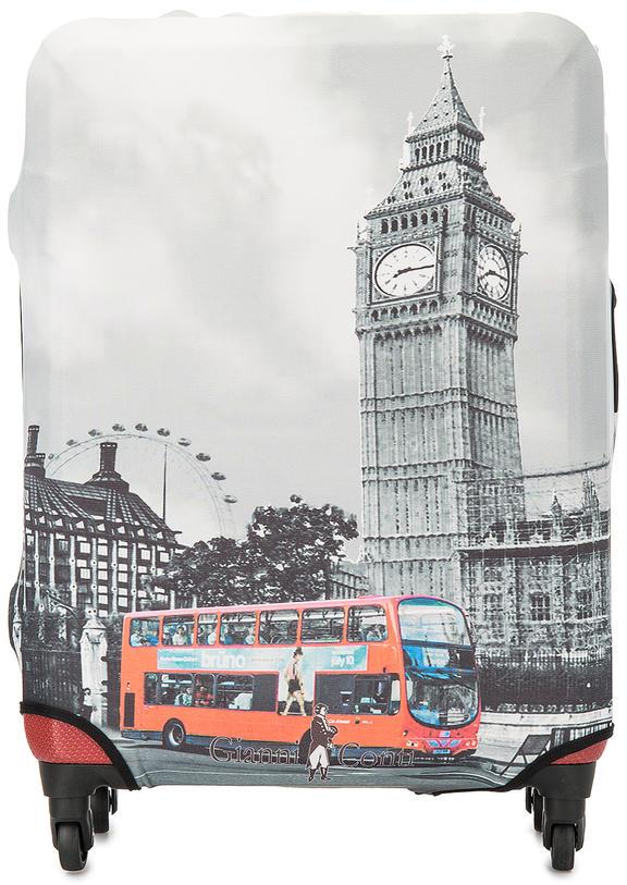 Чехол на чемодан Gianni Conti 9019L travel London серый.