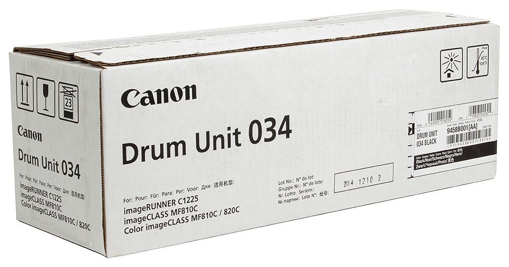 Фотобарабан Canon C EXV034BK Черный